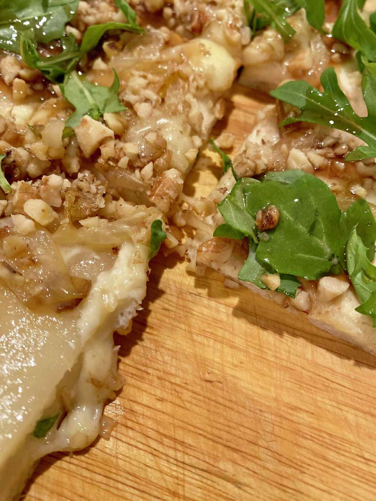 Looking to try something a little different? A pear flatbread makes for a light and refreshing dish.