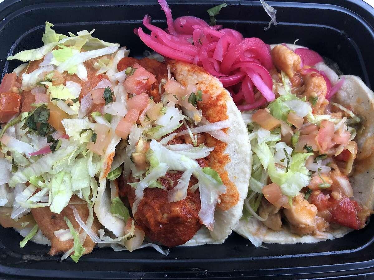 Tacos from Los Guisados del Patron.