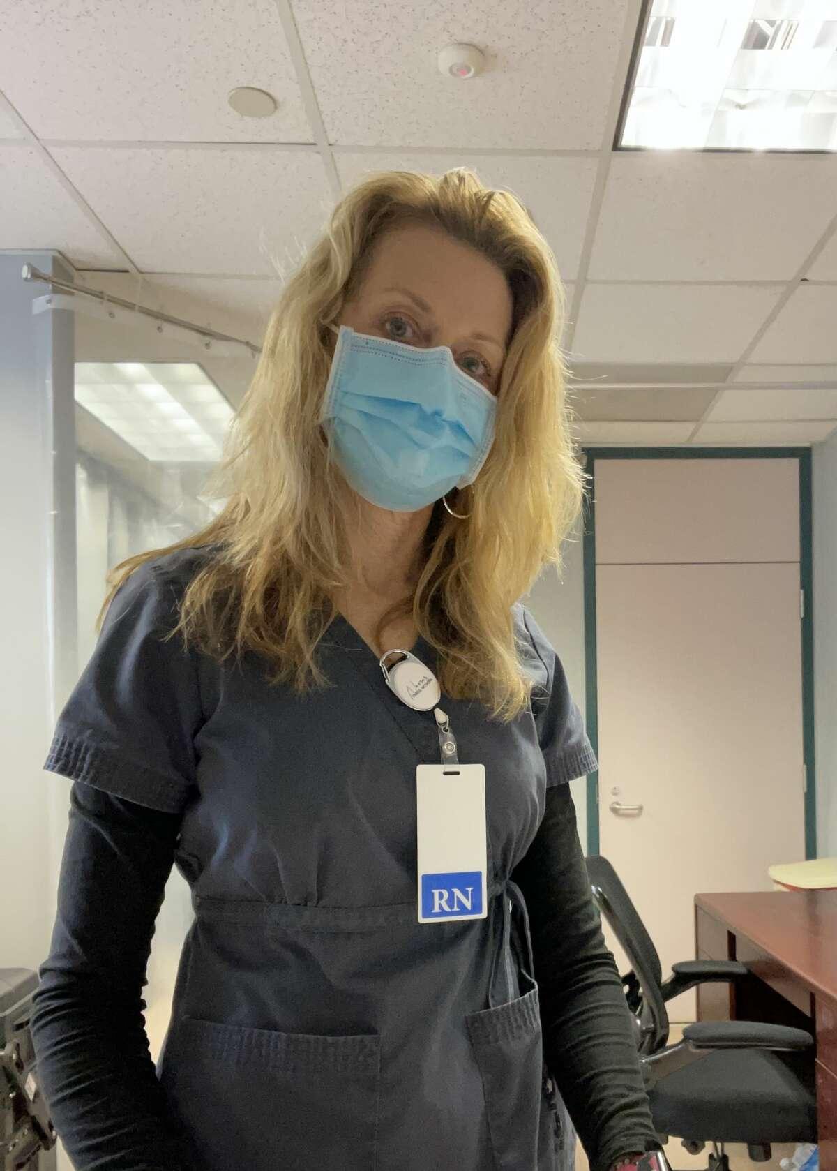 Humble ISD school nurse Kirsten Cowan said it was a tremendous relief getting the Moderna vaccine.