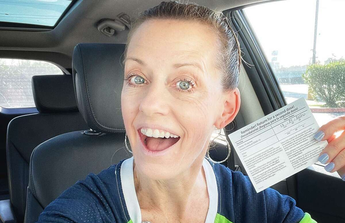 Getting the vaccine was a moment Humble ISD school nurse Kirsten Cowan will never forget.
