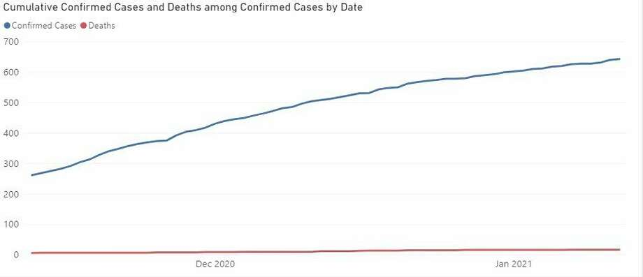 State data shows the number of COVID-19 cases in Manistee County has increased in the last two months. (Screenshot/MDHHS website)