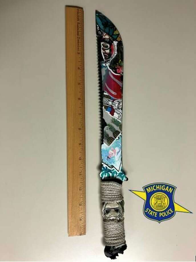 A Lansing man ran at a Michigan State Police officer wielding a machete after the trooper responded to a car-deer collision report. (Courtesy Photo)