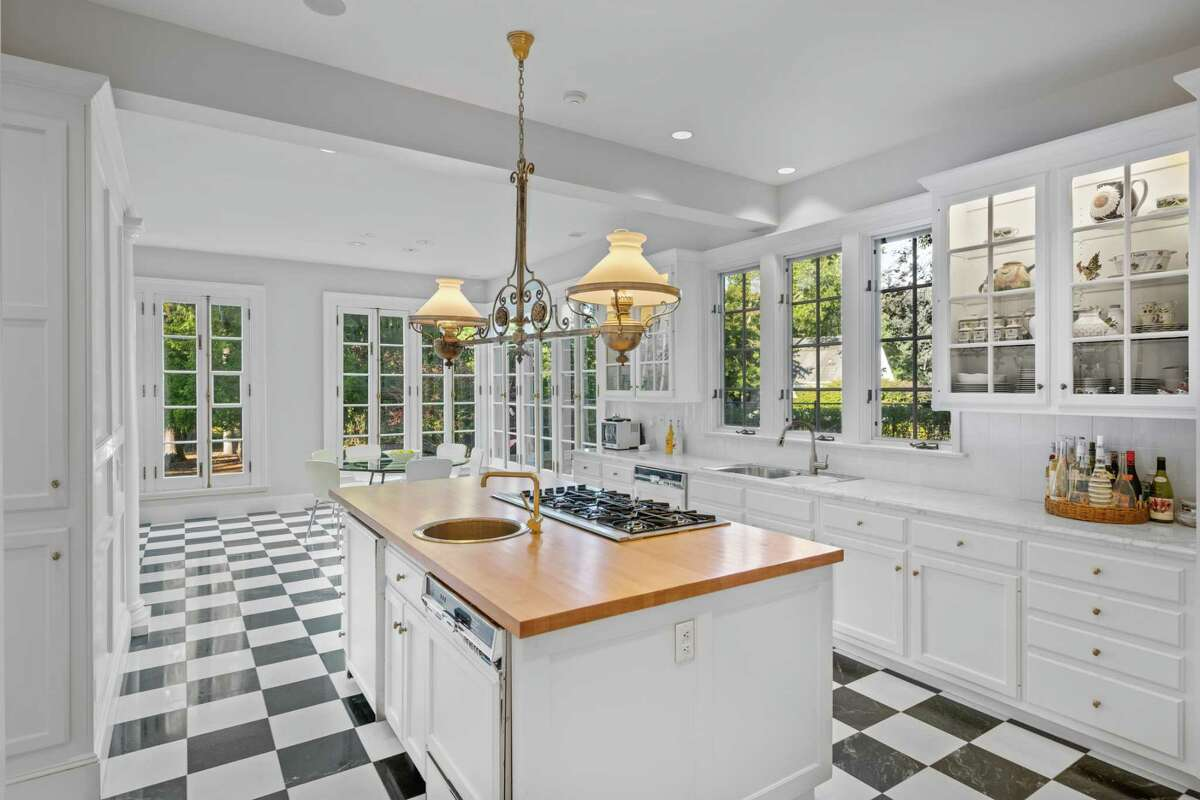 Gourmet kitchen in the main house at 77 Morningside Drive South, Westport.