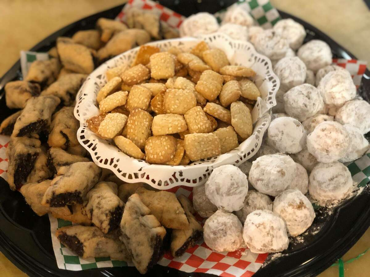 Mandola's Deli offers Sicilian specialties such as sesame seed cookies and fig cookies.