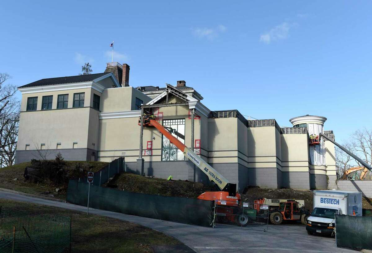 """Construction on the """"New Bruce"""" expansion and renovation continues at the Bruce Museum in Greenwich, Conn. Monday, Jan. 4, 2021. The New Bruce is scheduled for completion in the fall of 2022."""