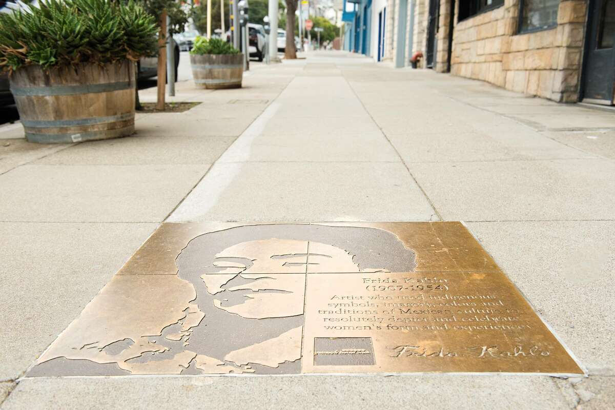 Rainbow Honor Walk is a walking tour in the Castro that features dozens of bronze plaques honoring heroes of the LGTBQ community.