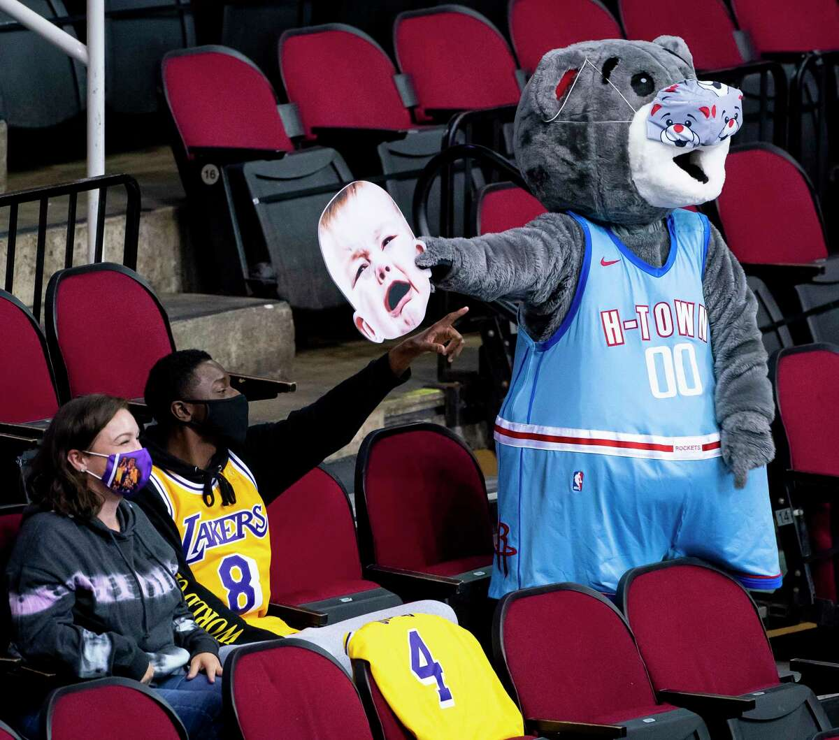 The Rockets are hopeful of playing on Friday and Saturday at home, Clutch the Bear included.