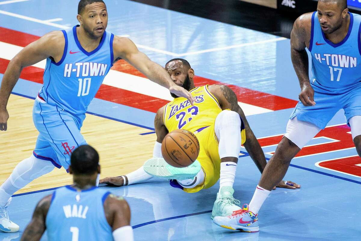 LeBron James played in the Lakers' visit to Toyota Center in January but was sidelined for Wednesday's matchup in Los Angeles.