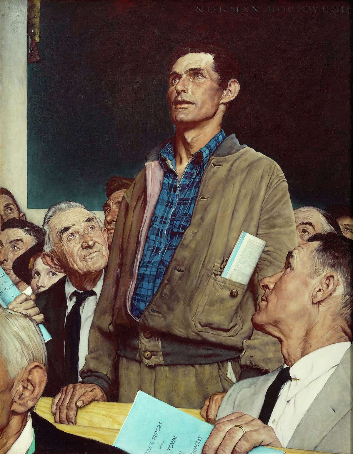 Norman Rockwell painted