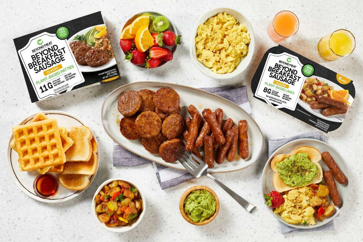 A plant-based meat company is teaming up with Earth Burger in San Antonio to allow people to have a free breakfast with meatless sausage on Jan. 14, 2021.