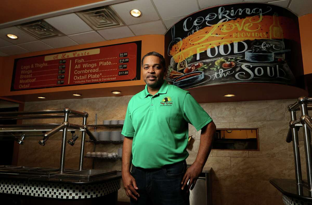 Owner Garlan McPherson at the new Mrs. Kitchen Soul Food Restaurant at 5237 Walzem Rd. in Windcrest on Tuesday, Jan. 12, 2021.