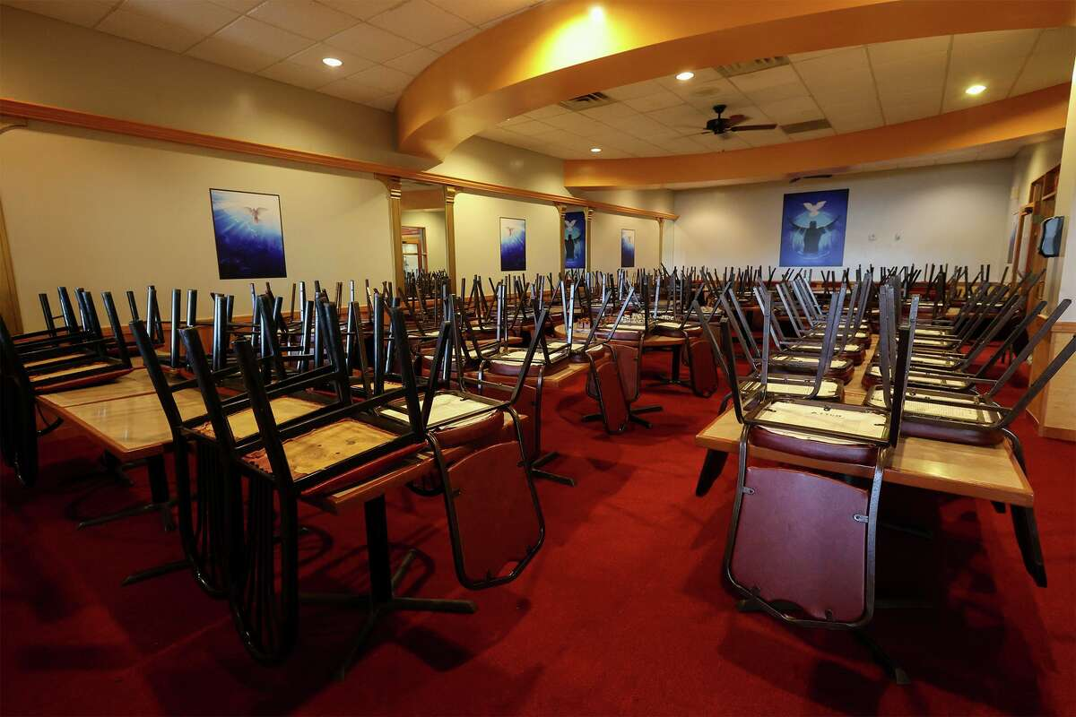 """The """"Bread of Heaven Room,"""" a private meeting room which will double as overflow seating, at the new Mrs. Kitchen Soul Food Restaurant."""