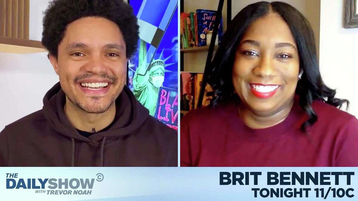 """Brit Bennett appeared on """"The Daily Show With Trevor Noah"""" as part of her virtual book tour."""