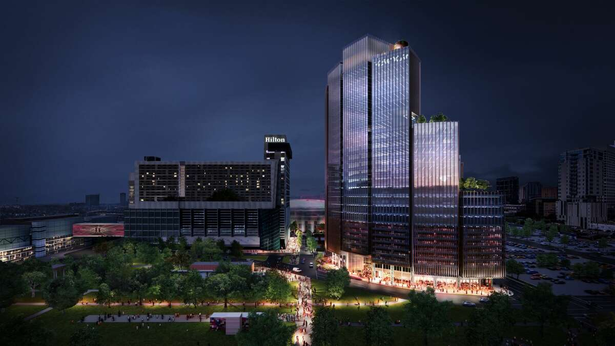 Skanska is planning a 28-story office tower called 1550 on the Green. The tower, next to Discovery Green, would be part of a three-block master plan including restaurants, retail and green space, said the developer in a release.