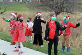 Dancers from the Conservatory of Dance performed outside at Green Acresin late December. Around 20 dancers volunteered to perform at Green Acres and the Manistee County Medical Care in order to spread some holiday cheer. The dance studio is temporarily closed due to the pandemic. (File photo)