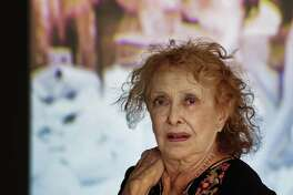 Groundbreaking feminsit artist Carolee Schneemann, pictured at a 2017 retrospective in Germany, is the inspiration for a new exhibit at Artpace.