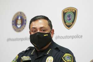 Houston Police Chief Art Acevedo during a press conference at HPD Headquarters in Houston, Wednesday, Jan. 13, 2021.
