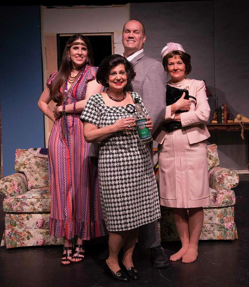 """The cast of The Players Theatre Company's """"Last of the Red Hot Lovers."""" Back is Michael Raabe as Barney, ladies from left are Amanda Abright as Bobbi, Donna Gylling as Elaine and Cindy Siple as Jeanette. The show opens on Jan. 22 at the Owen Theatre. Photo: Photo By Brad Meyer"""
