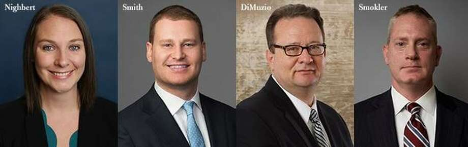 """Simmons Hanly Conroy has announced the promotion of four attorneys — Holly Nighbert, Brendan A. Smith, Gary DiMuzio and Sanford """"Sandy"""" Smokler — to shareholder."""