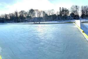 The Hemlock Park Ice Rink in Big Rapids opened to skaters for the season this week. The rink is open daily, conditions permitting, from 8 a.m. to 10 p.m. General rules are posted on the gate outside of the ice rink area. (Pioneer photo/Bradley Massman)