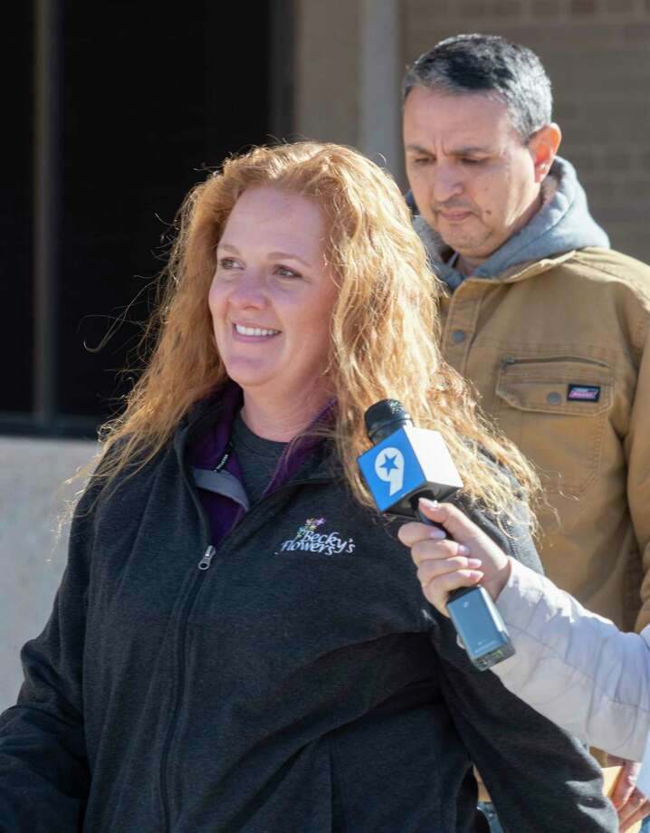 "Jenny Cudd and Eliel Rosa leave the Federal Courthouse in Midland 01/13/2021 after seeing a judge for their part in ""storming"" the Federal Capitol in Washington January 6. Tim Fischer/Reporter-Telegram Photo: Tim Fischer, Midland Reporter-Telegram"