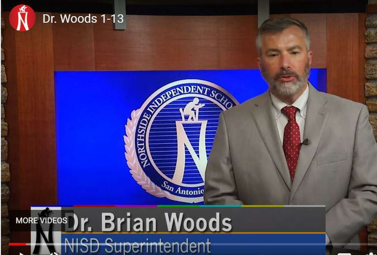 Superintendent Brian Woods recorded a video urging parents to return their kids to virtual learning for two weeks.