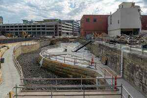 Work is underway on San Pedro Creek's rehabilitation.