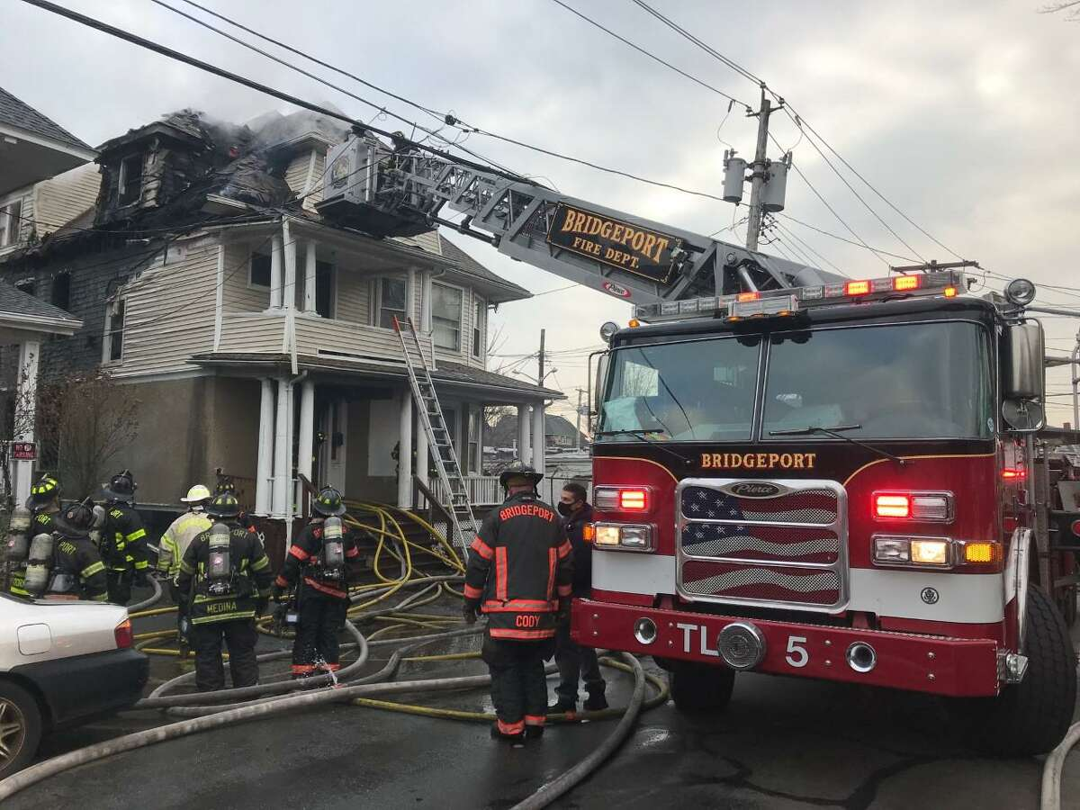 BRIDGEPORT - City firefighters put out a blaze at a Vine Street home first reported around 1:30 p.m. Wednesday Jan. 13, 2021. Eight people were displaced by the fire, according to initial dispatch reports