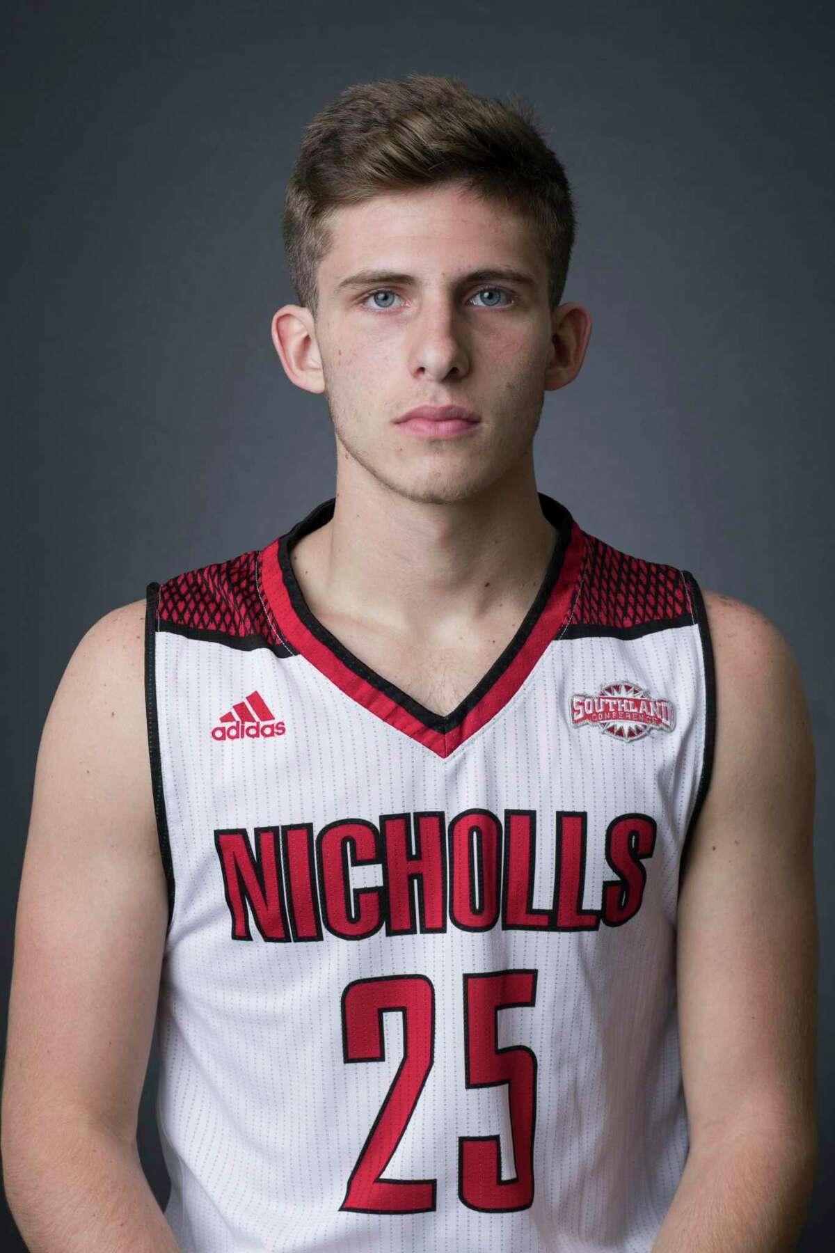 Nicholls State basketball player Pierce Spencer.