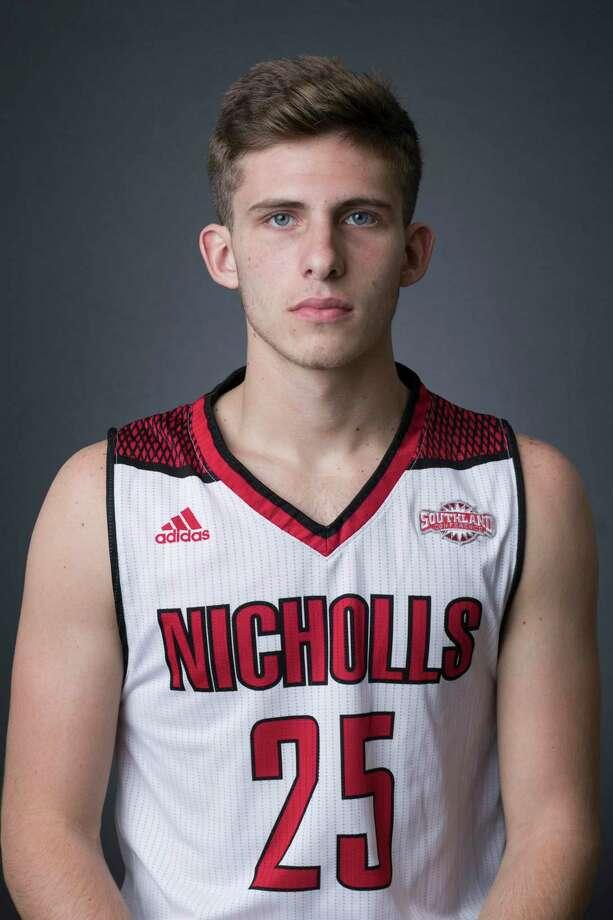 Nicholls State basketball player Pierce Spencer. Photo: Nicholls State Athletics / Misty Leigh McElroy / Misty Leigh McElroy