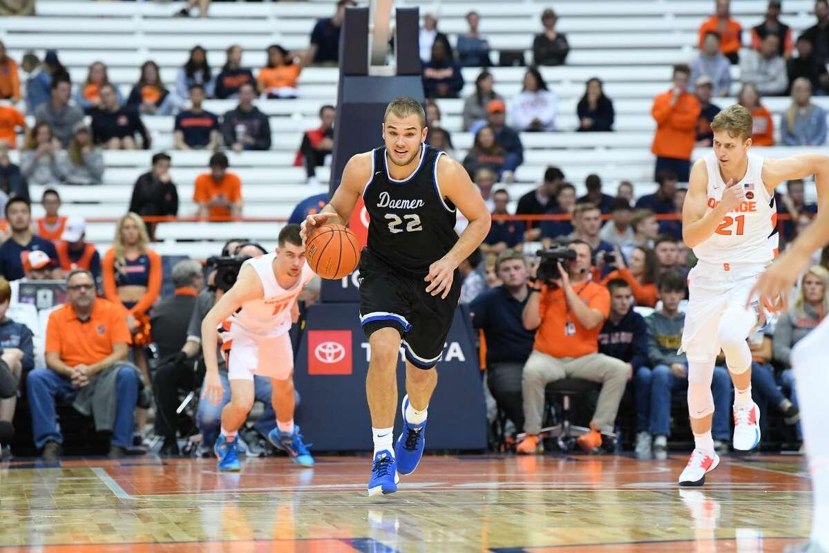 Guilderland High graduate Andrew Sischo of the Daemen College men's basketball team.