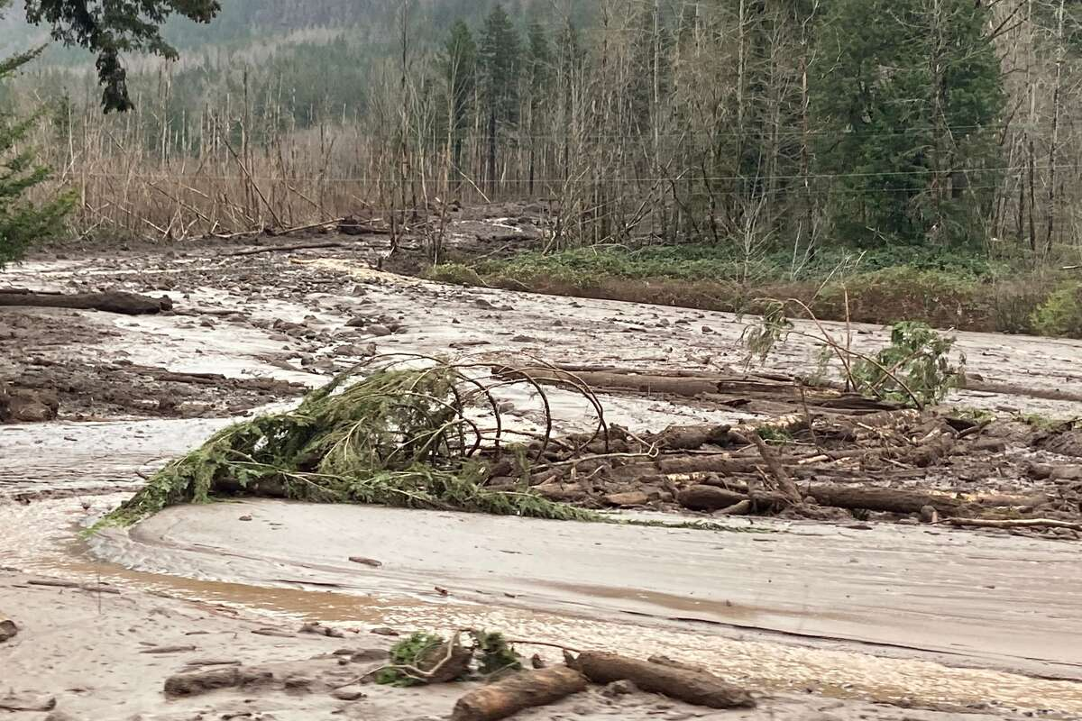 A landslide triggered amid a powerful storm closed I-84 east of Troutdale in Oregon Oregon, according to the Multnomah County Sheriff.