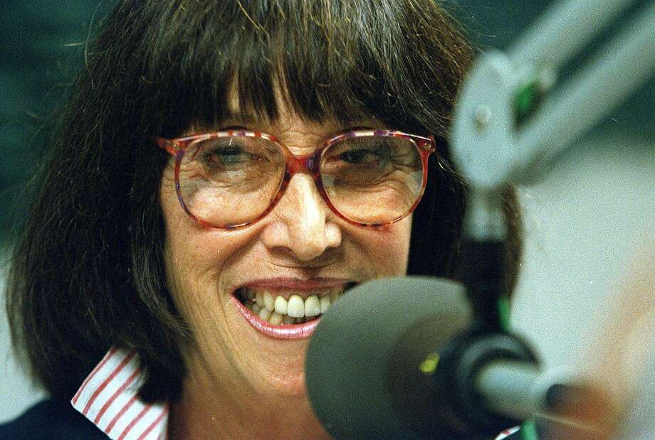 """Margo St. James ran for Board of Supervisors in San Francisco. Here she is in 2001 on radio station """"KALW"""" promoting her candidacy. Photo: John O'Hara / The Chronicle 1996"""