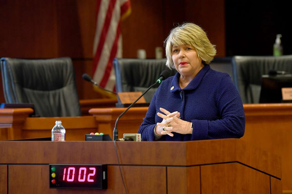 Mayor Becky Ames announced Wednesday in council chambers that she would not be seeking re-election. Ames has served as Beaumont's Mayor since 2007. Photo taken Wednesday, January 13, 2021 Kim Brent/The Enterprise