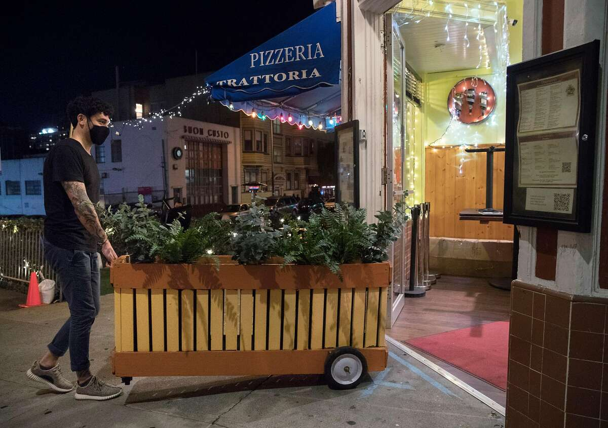 Outdoor dining is still prohibited at Pizzeria Trattoria in North Beach and other restaurants in the nine-county Bay Area region.