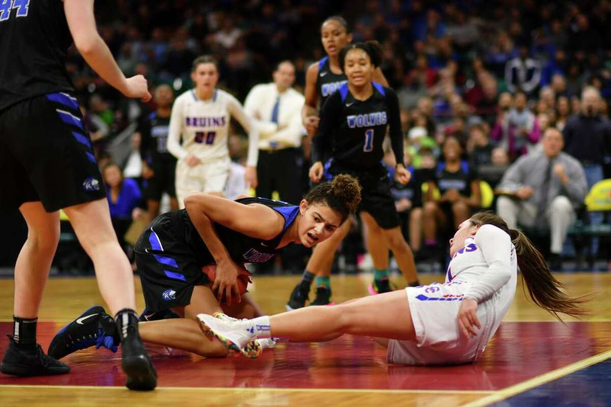 Lauren Betts, grabbing the ball during a 2019 Colorado state tournament game, tweeted that she will attend Stanford.