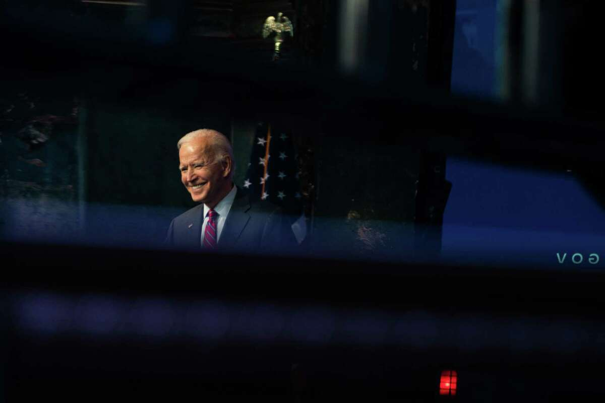 President-elect Joe Biden speaks about the economy at the Queen in Wilmington, Del., on Dec. 4, 2020.