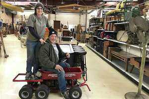Dawn and Mert Larmore are closing Litchfield County Pickers in New Milford in February.