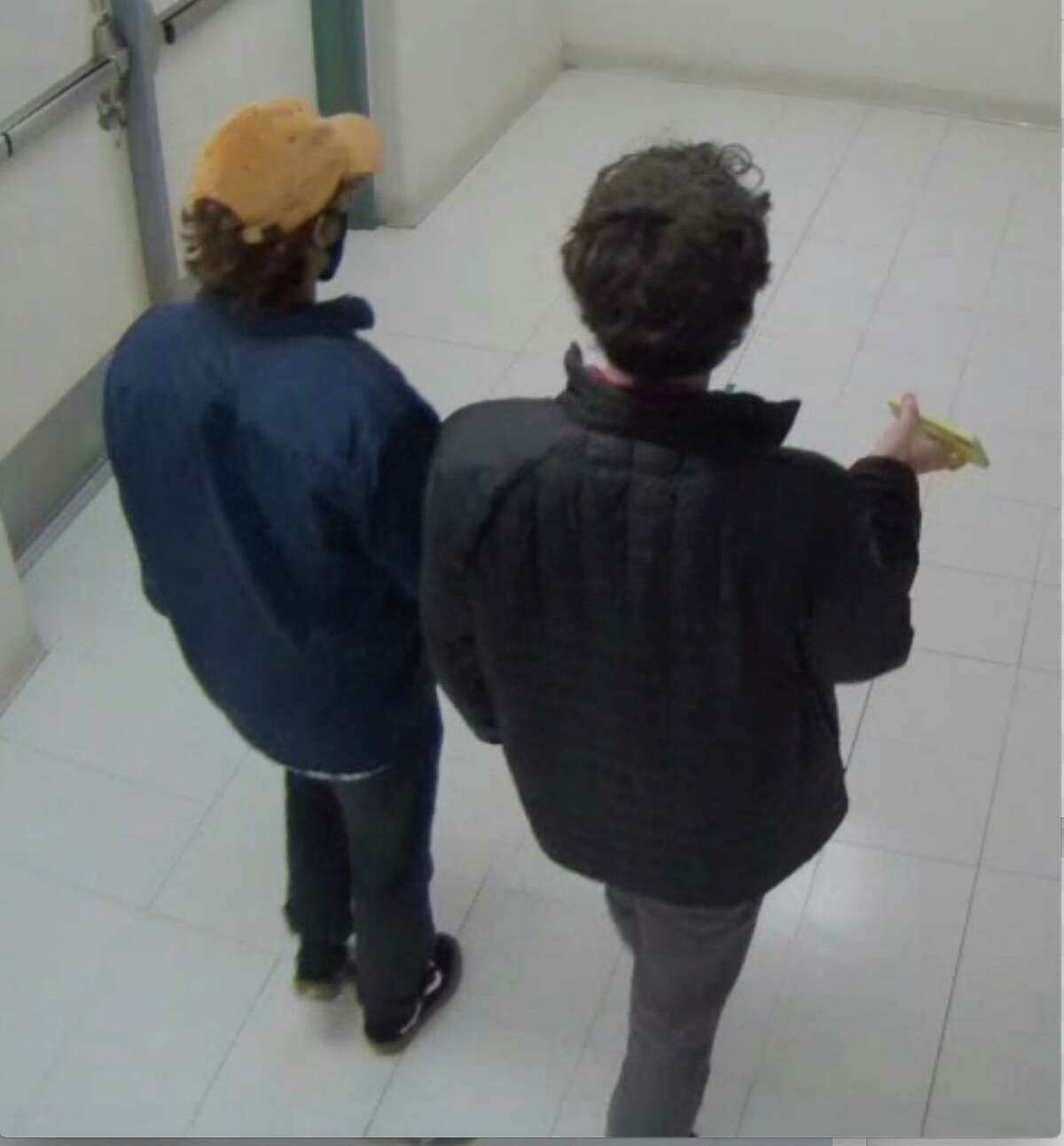 Darien Police released these photos of suspects who allegedly broke into Middlesex Middle School in Darien in late November on Jan. 13 asking the public's help identifying them. Police said they had id'd the suspects, who police said are not juveniles, as of Thursday, Jan. 14.