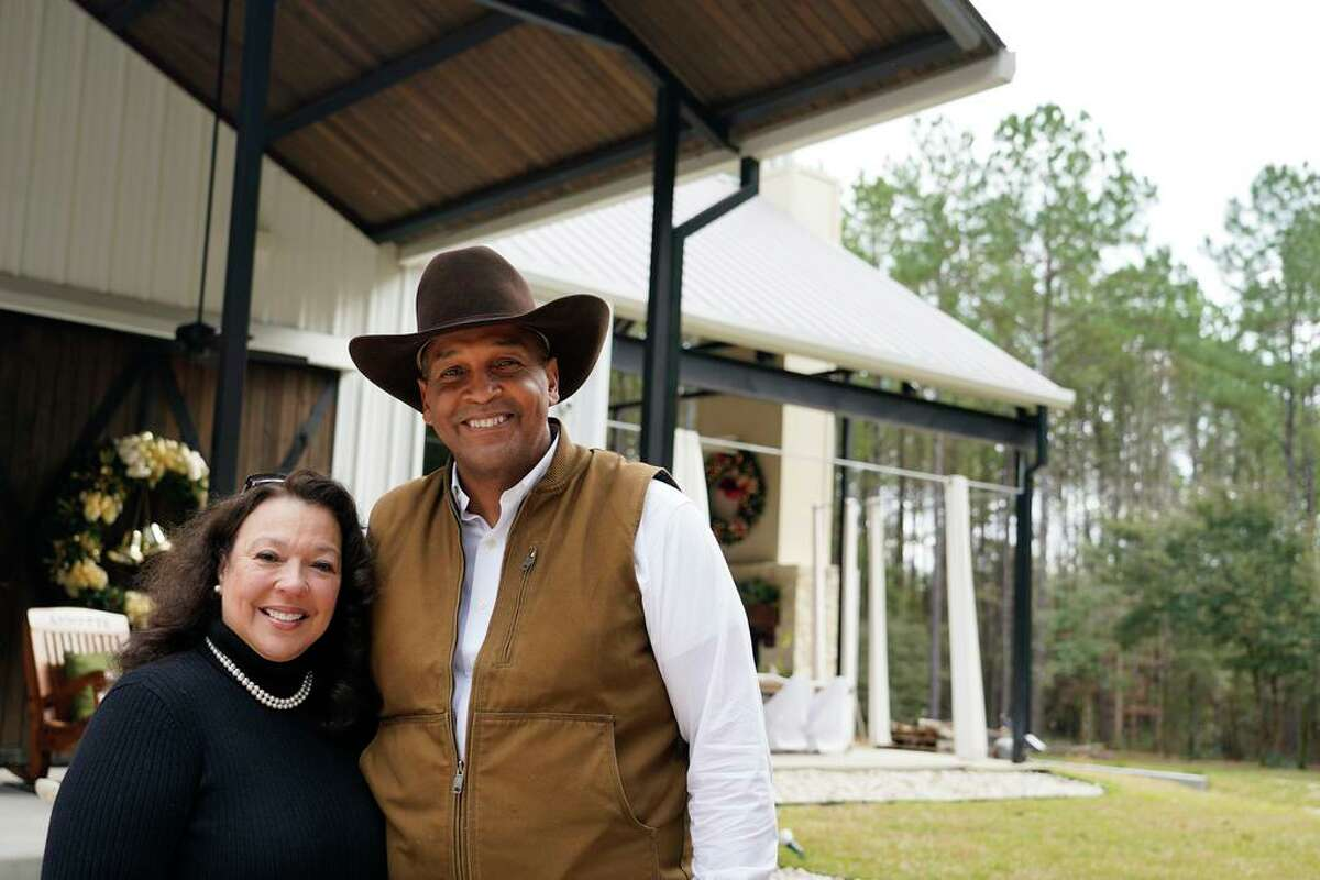 Stacee Lynn and her husband, Oliver Bell, are shown at their barndominium home Tuesday, Dec. 29, 2020 in Cleveland. Barndominiums are the newest alternative housing craze, following tiny homes and container homes. They're buildings made of metal siding and finished out as homes
