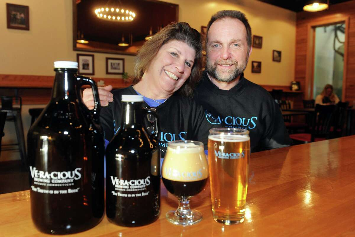 Tess and Mark Szamatulski are the owners of Veracious Brewing in Monroe.
