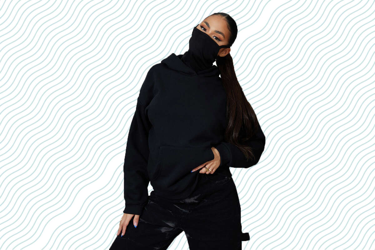 The Oversized Mask Hoodie is $17 at PrettyLittleThing.