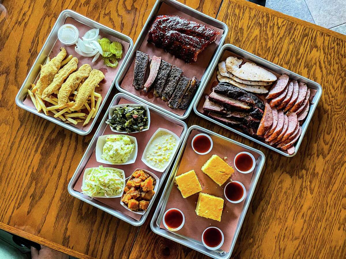 Barbecue selection atThe Brisket House