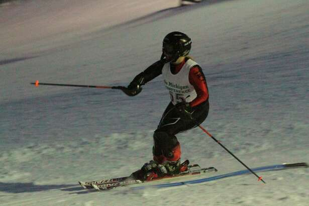 Victoria Cobb clears the final gate in the slalom course on Jan. 13. (Robert Myers/Record Patriot)
