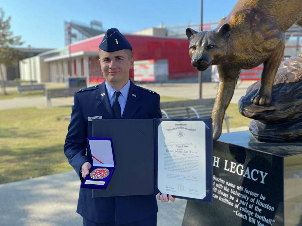 2nd Lt. Chris Williams, a University of Houston graduate and former Air Force ROTC cadet, will join the U.S. Space Force.