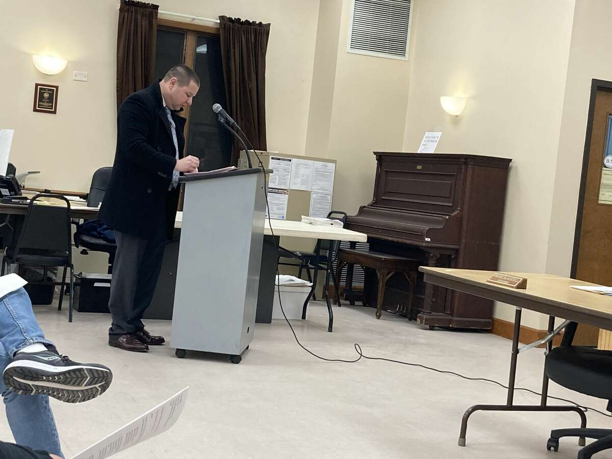 Michael Landis addressed the Milton town board about the problems living next to Planit at a meeting on Wednesday, Jan. 13, 2021 in Milton.