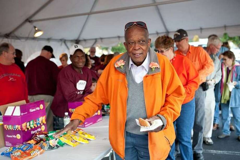 "Marvin ""Preach"" Webb, the unofficial goodwill ambassador for Edwardsville, is being honored with a plaque and a scholarship in his name. Photo: For The Intelligencer"