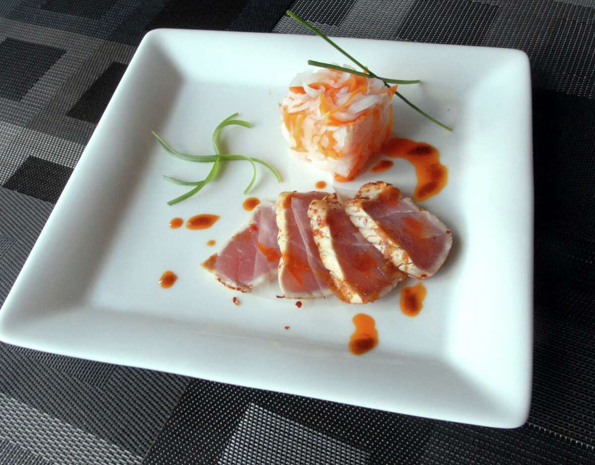 Chili flake crusted ahi tuna at Forbidden City Bistro in Middletown.
