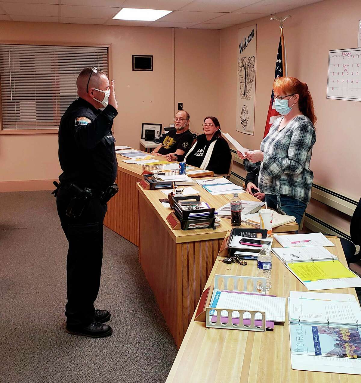This week, Scott Morgan was sworn in as the new police chief in the Village of Barryton, who replaces now-Mecosta County Sheriff Brian Miller. The Mecosta County Sheriff's Office is looking forward in the continuing working relationship we have with the Barryton Police Department. (Photo courtesy of Mecosta County Sheriff's Office)