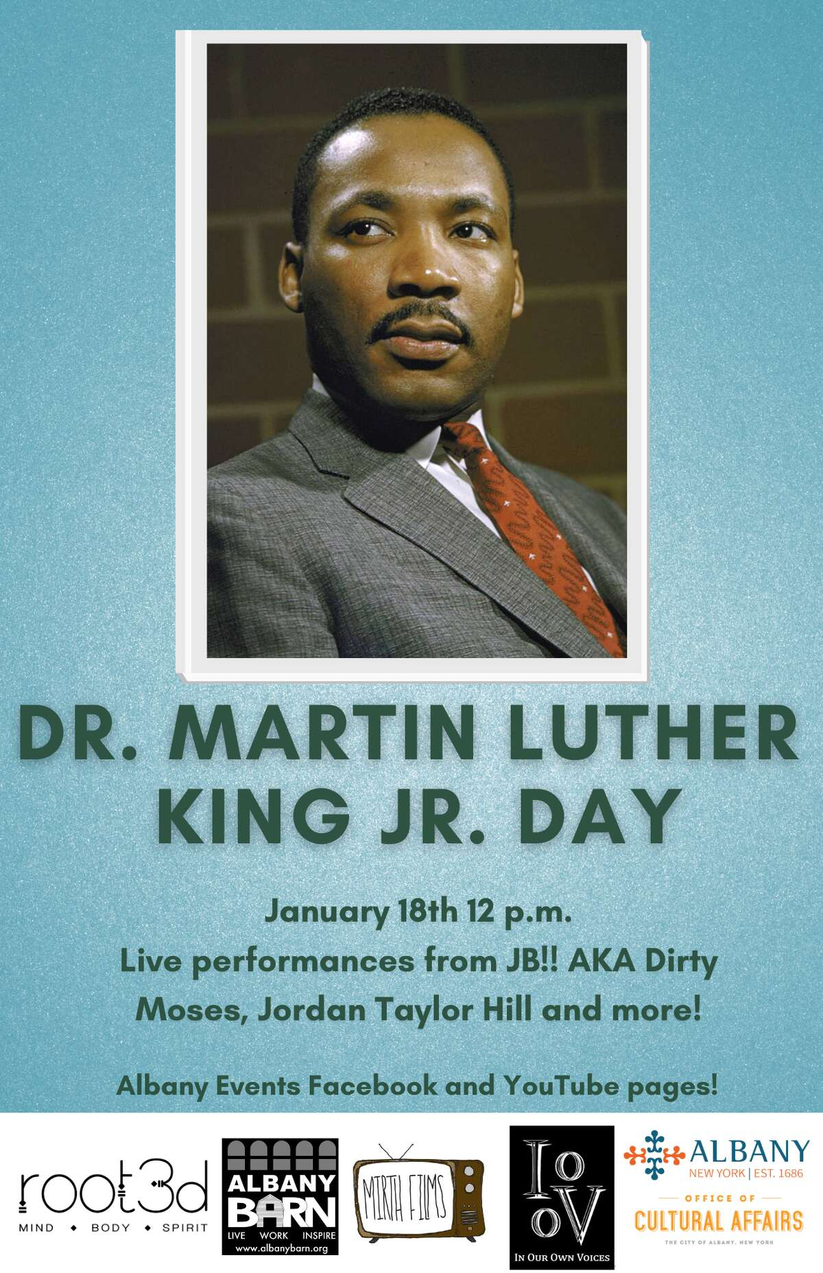 Monday event in Albany celebrates the birthday of Martin Luther King Jr.